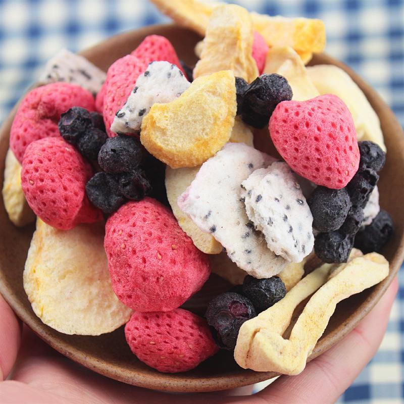 Condiciones del proceso de secado de la fruta.